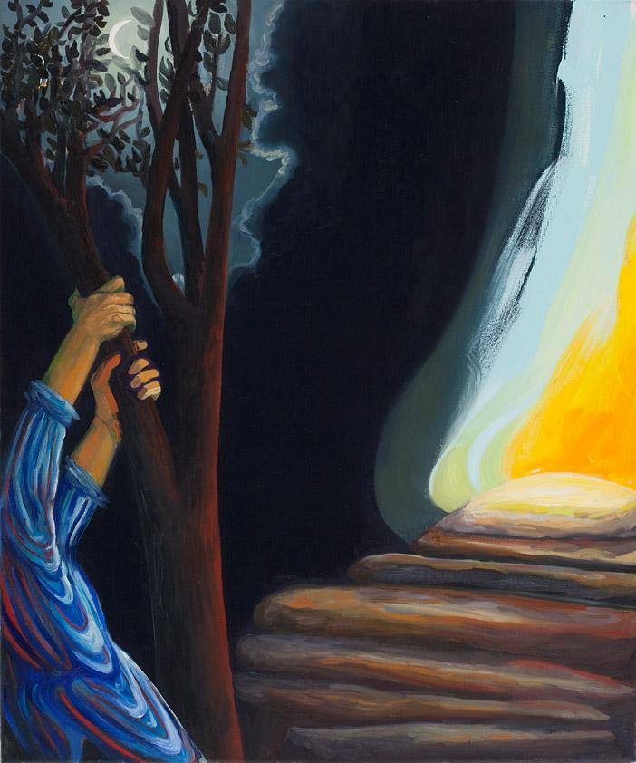 Das Opfer, 50x70 cm, Öl/ Lwd. 2016
